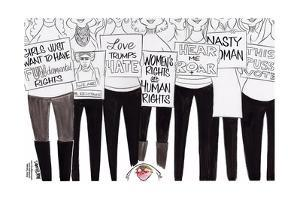 Love Trumps Hate. Women's rights are human rights. Hear me roar. Nasty woman. This pussy votes. by Ann Telnaes