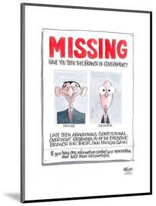 MISSING.  Have you seen this branch of government?  House.  Senate…hold them accountable. by Ann Telnaes
