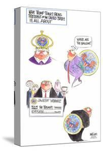 What Trump thinks being President of the United States is all about. Where are the balloons? … by Ann Telnaes