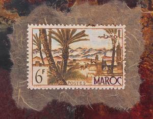 Maroc Stamp by Ann Walker