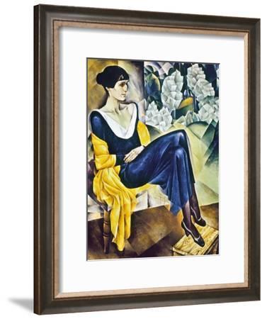 Anna Akhmatova (1889-1967)-Nathan Isaevich Altman-Framed Giclee Print