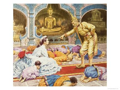 Anna and the King of Siam-Robert Brook-Giclee Print
