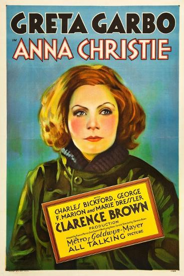 Anna Christie, Greta Garbo, 1930--Art Print
