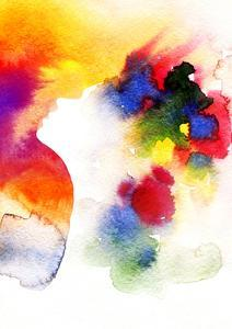 Abstract Watercolor .Woman Face by Anna Ismagilova