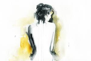 Beautiful Woman Body. Abstract Watercolor .Fashion Background by Anna Ismagilova