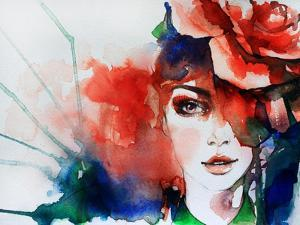 Creative Hand Painted Fashion Illustration by Anna Ismagilova