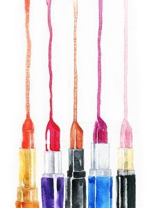 Lipsticks. Watercolor Illustration by Anna Ismagilova
