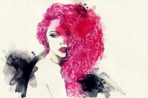 Woman . Hand Painted Fashion Illustration by Anna Ismagilova