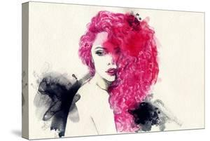 Woman . Hand Painted Fashion Illustration by Anna Ismagilova