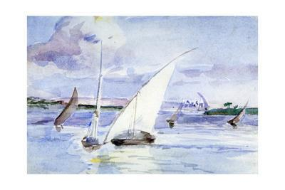 'A Lake with Sailing Boats', c1864-1930