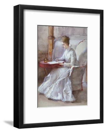 A Woman in White Writing at a Desk, C1864-1930