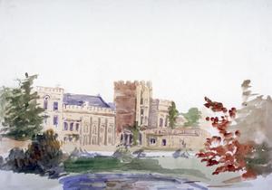 Castle Seen Through Trees, C1864-1930 by Anna Lea Merritt