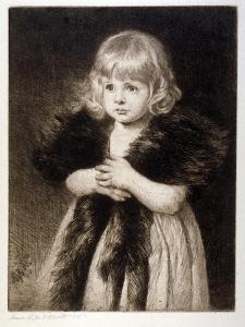 Miss Mildred Carter - Grandmother's Boa, C1864-1930 by Anna Lea Merritt