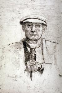 Old Man in a Flat Cap, 1916 by Anna Lea Merritt