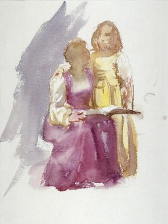 'Seated Woman and a Young Girl', c1864-1930