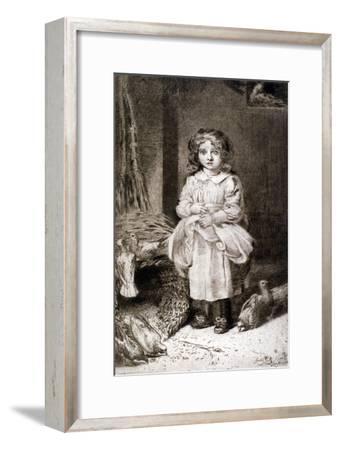 Small Girl Feeding Doves, C1888