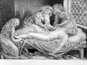 Three Nurses Tending a Wounded Soldier, 1915-1916 by Anna Lea Merritt