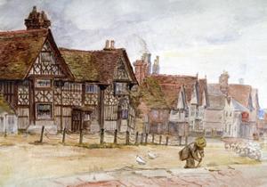 Village Street with Tudor Houses, C1864-1930 by Anna Lea Merritt