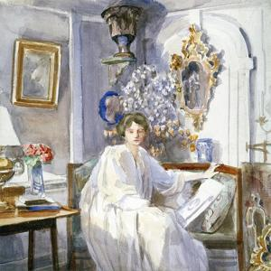 Young Woman in White, C1864-1930 by Anna Lea Merritt