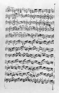 Copy of 'Partita in D Minor for Violin' by Johann Sebastian Bach by Anna Magdalena Bach