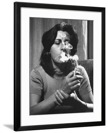 Anna Magnani in Her Rome Apartment-Gjon Mili-Framed Premium Photographic Print