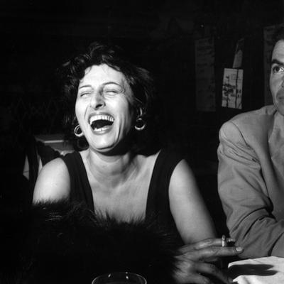 Anna Magnani Sitting Next to James Mason