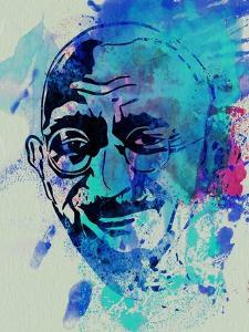 Gandhi Watercolor by Anna Malkin