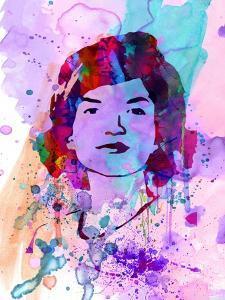 Jackie Kennedy Watercolor by Anna Malkin