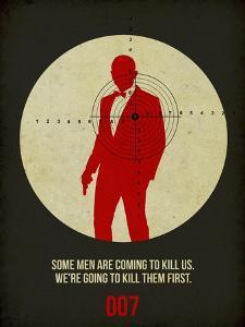 James Poster Black 3 by Anna Malkin