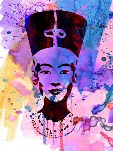 Nefertiti Watercolor by Anna Malkin