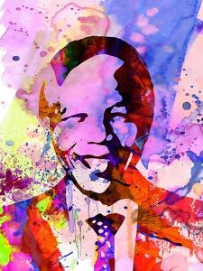 Nelson Mandela Watercolor by Anna Malkin