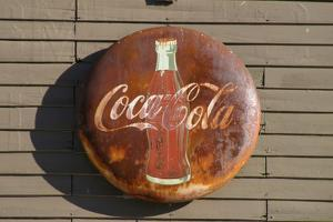 Antique Coca Cola sign, Mansfield, Indiana, USA by Anna Miller