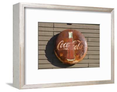 Antique Coca Cola sign, Mansfield, Indiana, USA