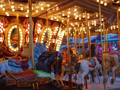 Merry go Round, Indiana State Fair, Indianapolis, Indiana, by Anna Miller