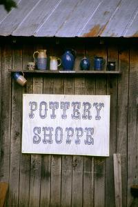 Pottery shop in historic Billie Creek Village, Indiana, USA by Anna Miller