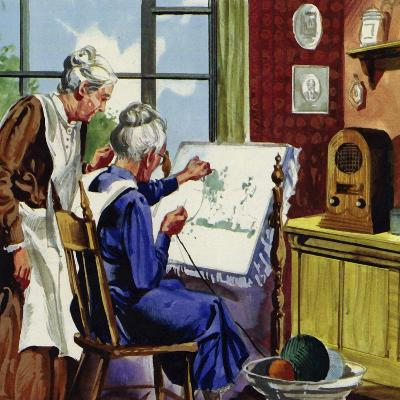 Anna Moses Took Up Sewing Pictures in Brightly Coloured Wool--Giclee Print