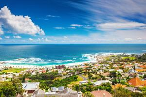 Seaside of Cape Town, Beautiful Coastal City in the Africa, Panoramic Landscape, Modern Buildings, by Anna Omelchenko