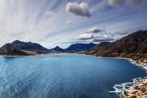 South Africa Bay View, Panoramic Landscape of Capetown, Aerial View on Atlantic Sea, Majestic Scene by Anna Omelchenko