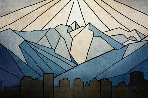 Geometric Mountain by Anna Polanski