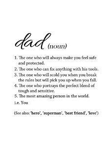 Dad Definition - White by Anna Quach