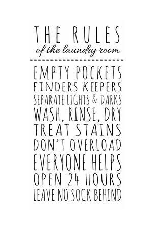 Rules of the Laundry Room