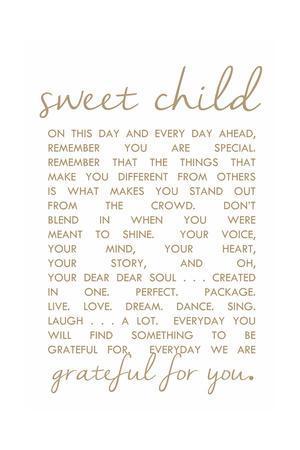 Sweet Child Letter
