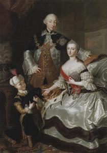 Peter III and Catherine II of Russia with their son Paul, c.1756 by Anna Rosina Lisiewska
