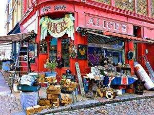 Alice's Antiques, Portobello Road in Notting Hill, London by Anna Siena
