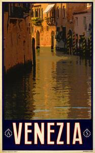 Canal in Venice Italy 1 by Anna Siena