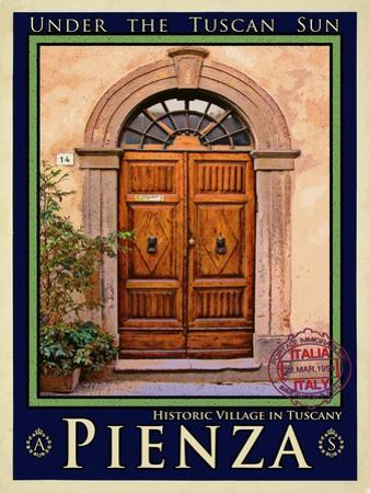 Door in Pienza Tuscany 5 by Anna Siena