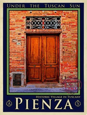 Door in Pienza Tuscany 6 by Anna Siena