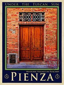 Door in Pienza Tuscany 6 by Anna Siena