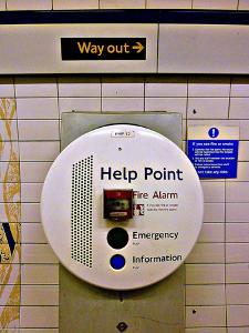 Help Point London Tube Station by Anna Siena