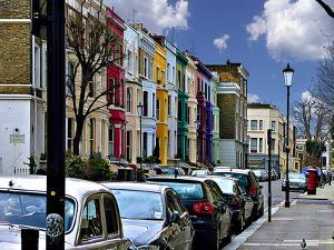 Lancaster Road Colorful Apartments in Notting Hill, London by Anna Siena